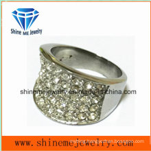 Fashion Stainless Steel Jewelry Castion Stone Finger Ring (SCR2982)