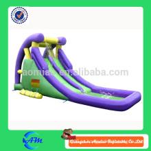 Tobogán inflable barato con piscina para niños