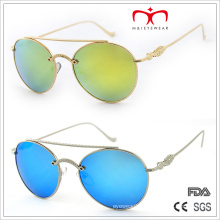 2015 Fashion Metal Decorated Temple and Round Frame Sunglasses (MI205)
