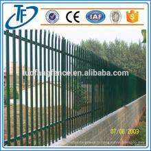 Clôture en acier à palissade d'occasion à vendre fabriquée à Anping (produits en Chine)