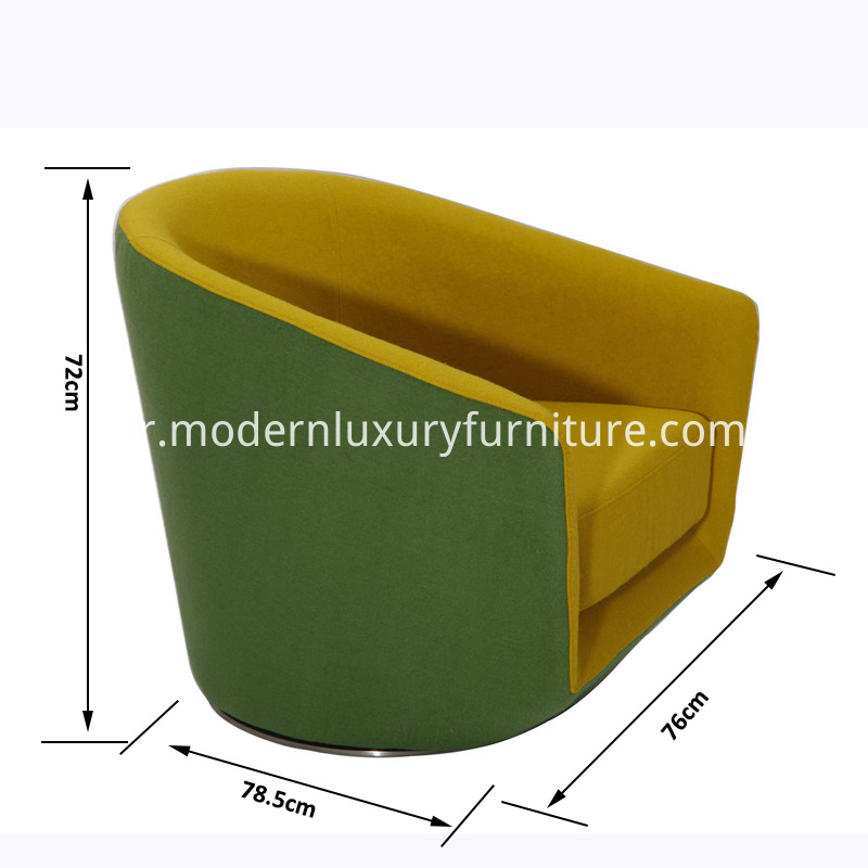 U-turn swivel chair size