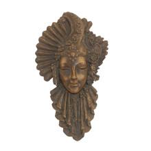 Relief Brass Statue Woman Mask Relievo Bronze Sculpture Tpy-885