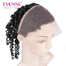 Brazilian Kinky Curly 360 Lace Frontal with Elastic Band