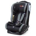Baby car seat with grey orange cover