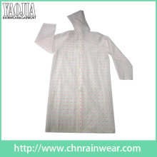 Yj-6202 EVA Printed Kids Girls Raincoats Femme Imperméable