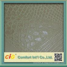 Couro de crocodilo artificial de assento de sofá