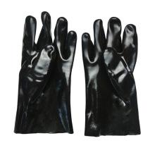 Luvas de algodão de borracha preta 27cm