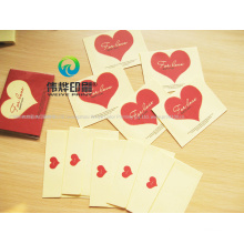 Printing Western Style Gift Envelope Red Heart Mini Paper Greeting Card