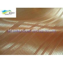 seda de imitación raya tela del satén de tapicería