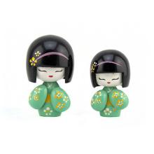 FQ marca popular criança pequena artesanal bebê bonito boneca japonesa de madeira