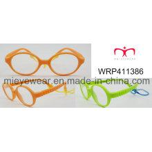 New Fashion Rubber Finish Rubber Temple Kids Eyewear Eyewearframe Optical Frame (WRP411386)