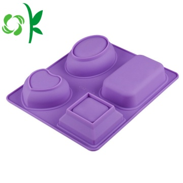 4Hole Silicone Soap Making Tools Stampo per sapone diverso