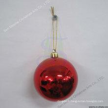 8cm Placage en gros Ornements en plastique en forme de boule de Noël