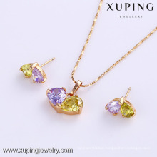 61722- Xuping Hot selling jewelry display gold plated jewelry sets