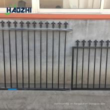 dekorative Aluminium Zaun Panel Glas Pool Fabrik Pfeil Design