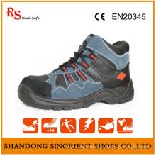 A segurança azul da segurança do cruzador do dedo do pé do couro do couro da camurça carrega S3