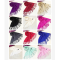 Mens Womens Unisex Winter Tassels Plain Scarf Muffler