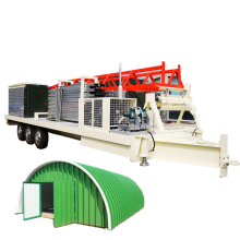 SABM-240 914-610 k Q span arch metal roof machine PPGI tile making machinery roof tile  roll forming machine quonset metal roof
