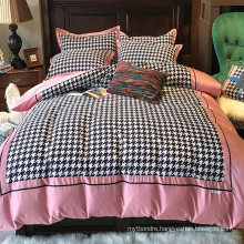 Home Bedding Fashion Style Bed Linen Cotton Printed Comfortable for King Bed Sheet Set