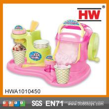 Interessante jogo de criança jogo sorvete fabricante brinquedo brinquedo máquina de sorvete