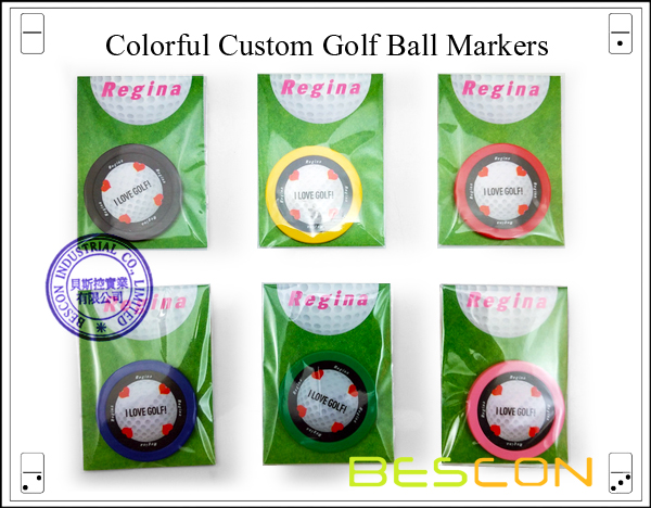 Colorful Custom Golf Ball Markers