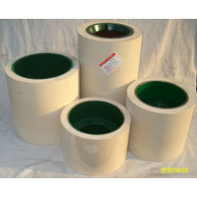 6 Inch White NBR Rice Hulling Rubber Roller on Iron Drum