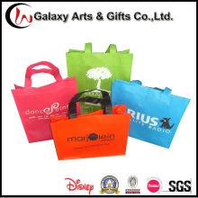 O logotipo relativo à promoção imprimiu a mão reusável não tecida leva sacos
