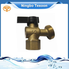 "1/2"" Quarter-Turn Low Pressure Brass Sillcock Valves black handle QT73X050"