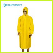 100%PVC Long Yellow Men′s Raincoat (Rvc-133)