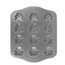 Non Stick 12 Cups Snowman Shaped  Muffin Cake Pan Mold