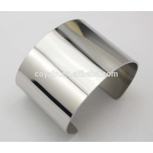 Glänzendes, hochpoliertes Finish Plain Silber Armband Armband Sets