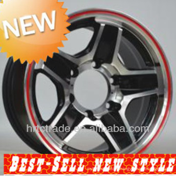 NEW! 15 inch red replica machine wheels rims