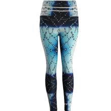 Leggings de pantalons de yoga personnalisés en spandex d'impression taille haute