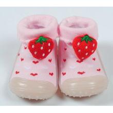 Zapatos del deslizador de la muchacha del niño del bebé calcetines booties suela de goma antideslizante
