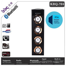 High power bluetooth tower speaker with fm usb tf card remote control