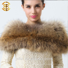 2014 Neue Art- und Weisedamen-warmer Winter-Kragen für wirklichen Waschbär-Pelz-Schal