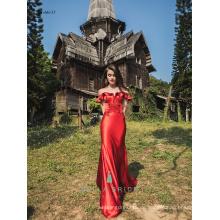 China rot vestidos de fiesta Abendkleid elegante Kittel lange Kleid Hochzeit Partykleid