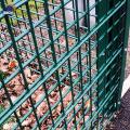 PVC-beschichteter grüner Gartenmetall-Doppeldrahtzaun