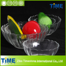 Crystal Clear Glass Salad Bowl of Lotus Shape (15031301)
