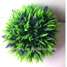 Artificial decoration grass ball with lavender