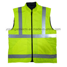 Adult′s Waterproof Padding Padded Reflective Safety Clothing Body Warmer Reversable Vest