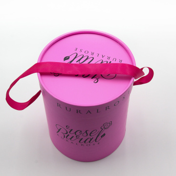 Custom Printed Luxury Round Flower Packaging Presentförpackning
