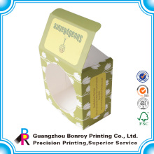 Cheap customized luxury paper box with window