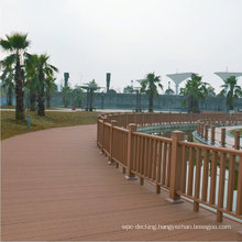Outdoor No Crack No Warp WPC Composite Hand Railing Anti-Rot Anti-Insect Wood Plastic Composite Railing Wooden Balustrade