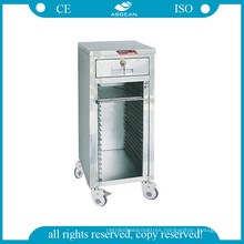 AG-Cht014 Cart for Medical Record Holders with 24 Shelves