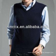 13STC5539 v neck sleeveless pullover men cashmere vest