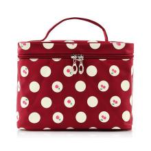 Bolsa de beleza cosmética para maquiagem Lady Fashion Cherry com estampa de nylon