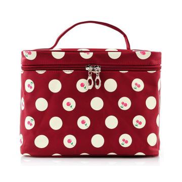 Lady Fashion Cherry печатных нейлоновых косметических косметических сумок для макияжа (YKY7535)