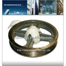 elevator traction wheel, lift traction wheel, elevator trolley wheel