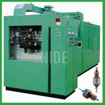 Automatic armature varnish rolling machine